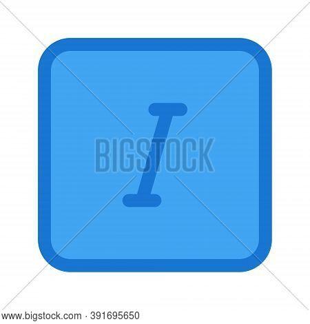 Italic Font Format Icon. Text Editor Italic Sign.
