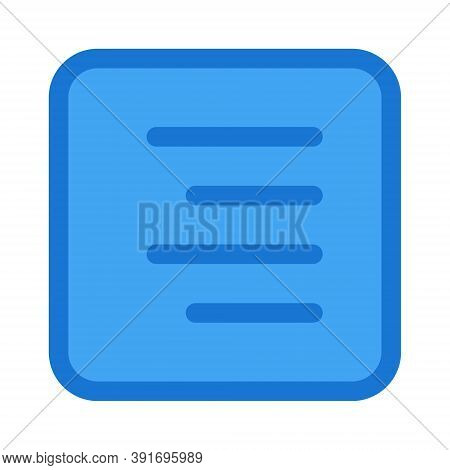 Paragraph Right Alignment Icon - Vector Illustration. Text Editor Right Align Symbol.