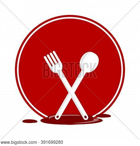 Restaurant Cutlery Icon Isolated On White Background. Restaurant Cutlery Icon In Trendy Design Style
