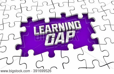 Learning Gap Puzzle Education Disparity Inequality 3d Illustration
