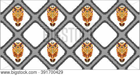 Drapery Curves Pagan Tripe Seamless Pattern. Indian Old Surface Background. Vector Ornament