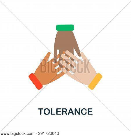 Tolerance Icon. Simple Element From Core Values Collection. Creative Tolerance Icon For Web Design,