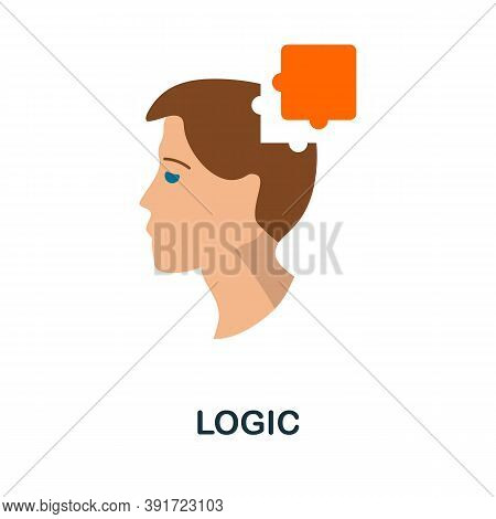 Logic Icon. Simple Element From Core Values Collection. Creative Logic Icon For Web Design, Template