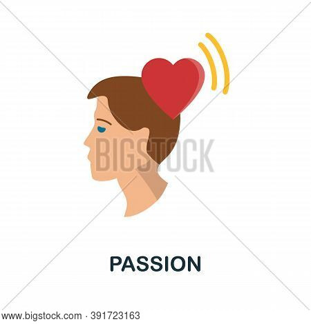 Passion Icon. Simple Element From Core Values Collection. Creative Passion Icon For Web Design, Temp