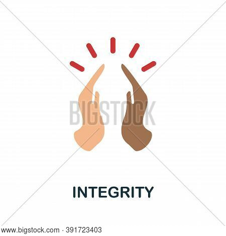 Integrity Icon. Simple Element From Core Values Collection. Creative Integrity Icon For Web Design,