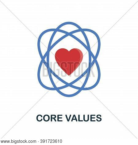 Core Values Icon. Monochrome Simple Core Values Icon For Templates, Web Design And Infographics