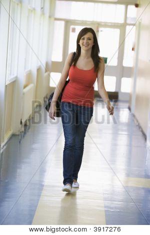 Student Walking In Corridor