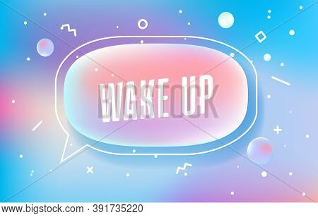 Wake Up In Design Banner. Vector Template For Web, Print, Presentation . Simple Banner With Minimal
