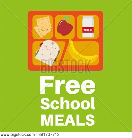 Free School Meals Served Here Vector Illustration