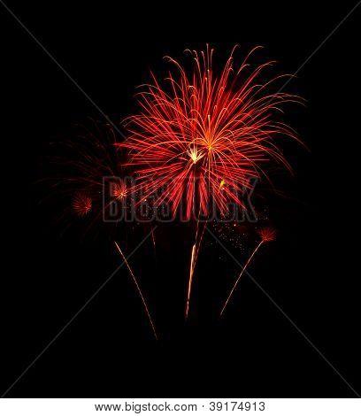 Orange Fireworks In The Sky/ Orange Streaks