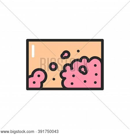 Atopic Dermatitis Color Line Icon. Isolated Vector Element.