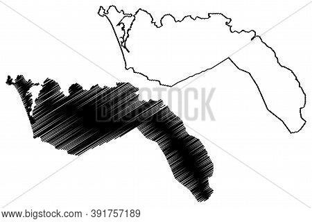 Freetown City (republic Of Sierra Leone, Salone, Western Area Region) Map Vector Illustration, Scrib