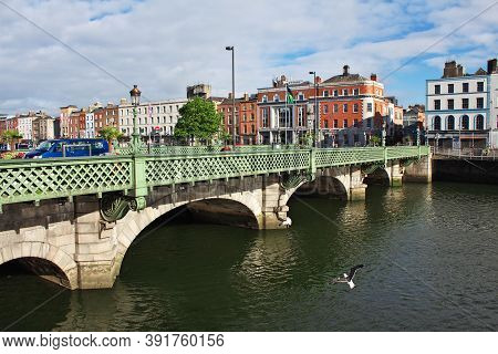 The Bridge In The Center Of Dublin, Ireland