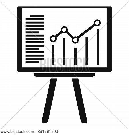 Internship Banner Graph Icon. Simple Illustration Of Internship Banner Graph Vector Icon For Web Des