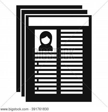 Internship Worker Cv Icon. Simple Illustration Of Internship Worker Cv Vector Icon For Web Design Is