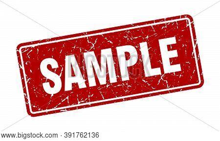 Sample Stamp. Sample Vintage Red Label. Sign