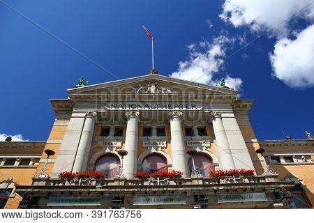 Oslo, Norway - 27 Jun 2012: The National Theatre, Oslo, Norway