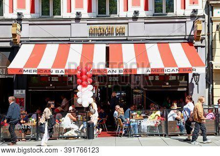 Oslo, Norway - 27 Jun 2012: The Vintage Shop On Karl Johans Street, Oslo, Norway