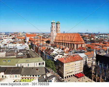 Munich, Germany - June 28, 2019: The Church Of Our Lady Frauenkirche In Munich Germany, Bavaria That
