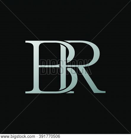 Simple Classy Letter B And R, Br Logo Icon. Creative Vector Logo Icon Design Letter Brconcept  For B