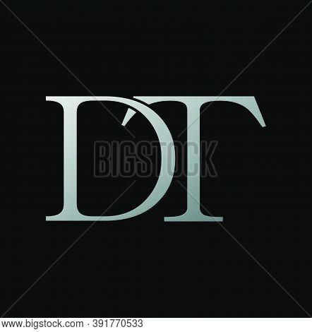 Simple Classy Letter D And T, Dt Logo Icon. Creative Vector Logo Icon Design Letter Dt Concept  For