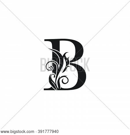 Monogram Luxury Letter B Logo Icon. Simple Luxury Design Concept Floral Leaves With Letter B  Logo I