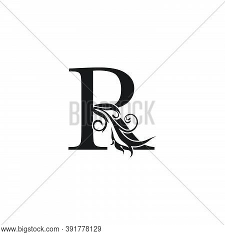 Monogram Luxury Letter R Logo Icon. Simple Luxury Design Concept Floral Leaves With Letter R Logo Ic