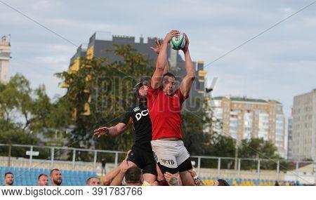 Odessa, Ukraine -2020.10.17 - Final Of Ukrainian Rugby Championship Credo (odessa) - Red, Olympik (k