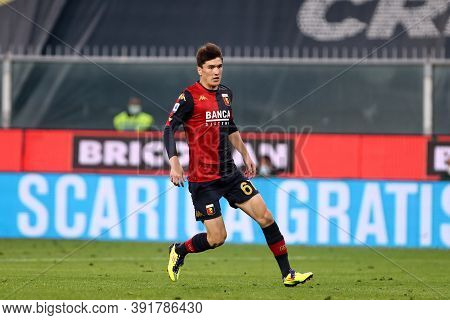 Genova, Italy. 24th October 2020. Eldor Shomurodov Of Genoa Cfc In Action During The Serie A Match B
