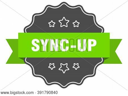 Sync-up Label. Sync-up Isolated Seal. Sticker. Sign
