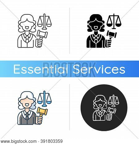 Justice Sector Icon. Judiciary. Legitimacy. Court. Judicial Reform. Practising Lawyers. Executive An
