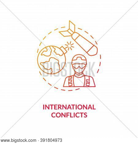 International Conflicts Concept Icon. Reverse Globalization Trend Idea Thin Line Illustration. Peace