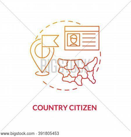 Country Citizen Concept Icon. Online Voting Requirement Idea Thin Line Illustration. Voting Informat