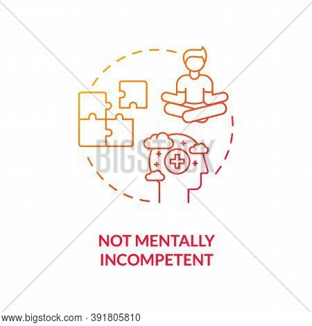 Not Mentally Incompetent Concept Icon. Online Voting Requirement Idea Thin Line Illustration. Electo