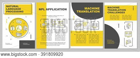 Nlp Brochure Template. Natural Language Processing. Flyer, Booklet, Leaflet Print, Cover Design With