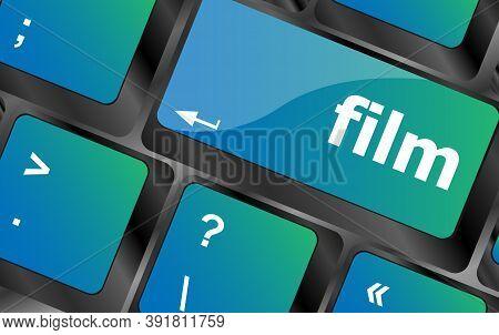 Film Button On Computer Pc Keyboard Key