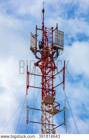 antenna cellular tower and blue sky