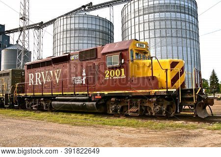 Breckenridge, Minnesota, September 12, 2020: The Red River Valley And Western Railroad (reporting Ma