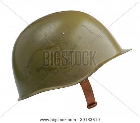 A Soviet military SSh-39 helmet. poster