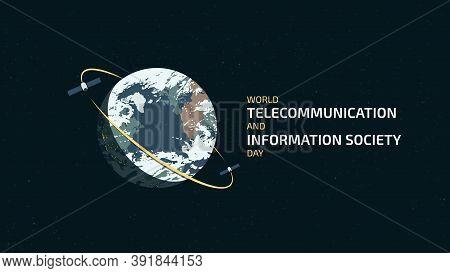 World Telecommunication And Information Society Day. Detailed Flat Illustration.