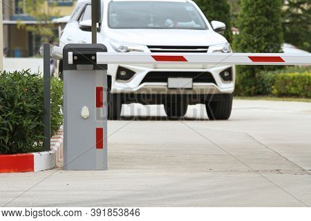 Automatic Barrier Gate Security System Of Home Village