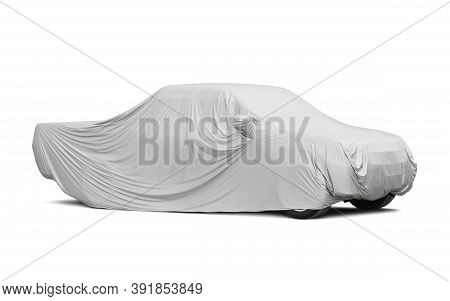 Car Cover For Pickup Truck (with Clipping Path) Isolated On White Background
