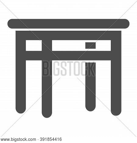 Dining Table Solid Icon, Kitchen Interior Concept, Furniture For Dining Room Sign On White Backgroun