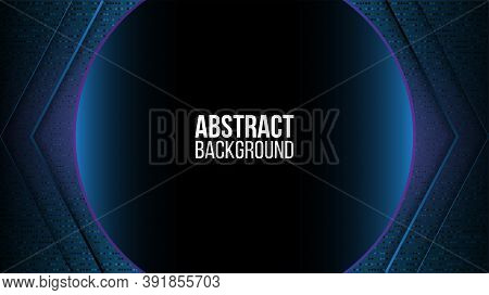 Abstract Background Technology High Speed Racing For Sports Of Long Exposure Light On Black Backgrou