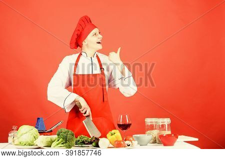 Chop Food Like Pro. Knife Skills Concept. Sexy Aphrodisiac Dinner Recipes. Choose Proper Knife. Best