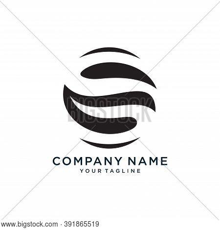 Initial Letters O S, Os, So, Minimalist Art, Black Monogram Logo Shape On White Background.