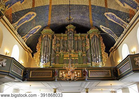 Oslo, Norway - 24 Jun 2012: The Ancient Church In The Center Of Oslo, Norway