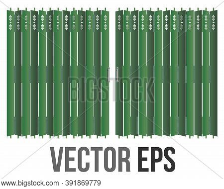 The Isolated Vector Traditional Hong Kong Retro Style Green Shop Front Building Matel Gate Rolling D