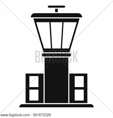 Airport Tower Icon. Simple Illustration Of Airport Tower Vector Icon For Web Design Isolated On Whit