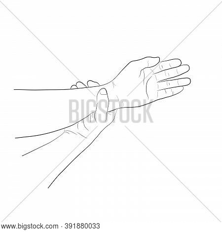 Image Graphics Vector Outline Wrist Pain Is Often Caused By Sprains Or Fractures From Sudden Injurie